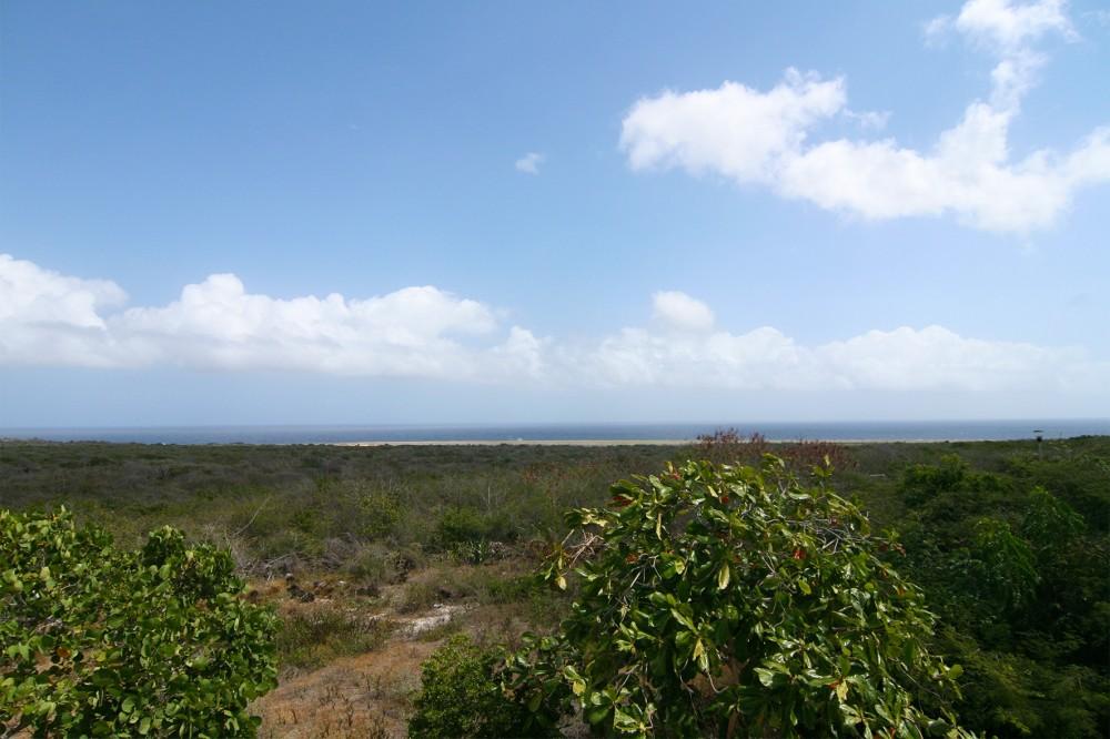 Uitzicht vanaf Grote Berg op de Caribische Zee