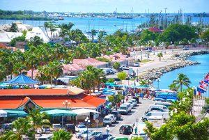 Marigot, Sint Maarten voor Orkaan Irma