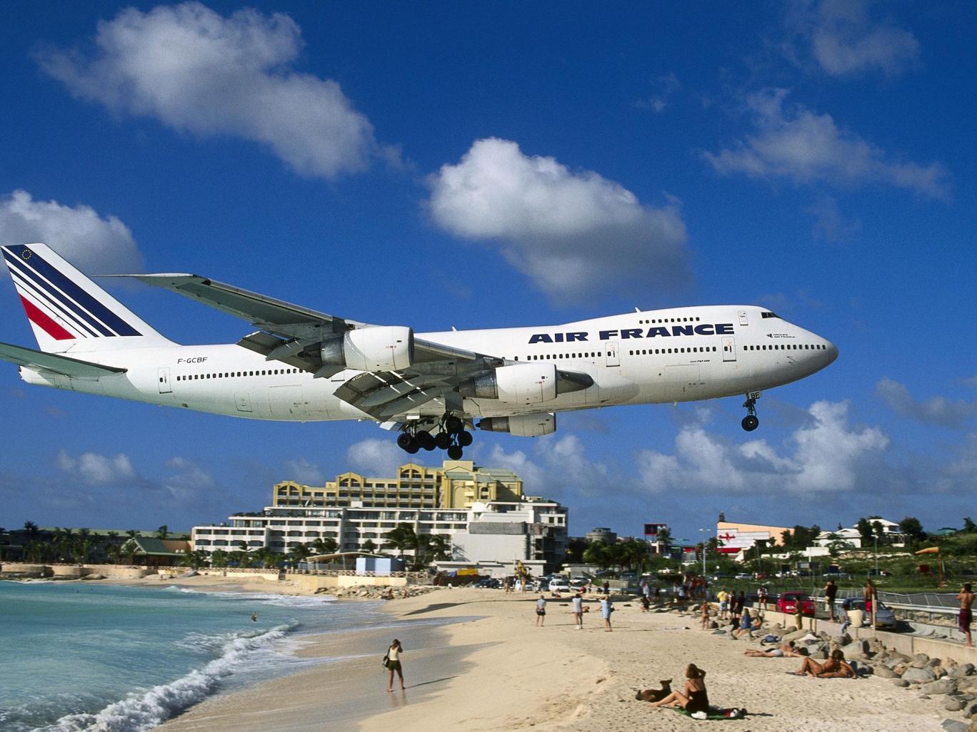 Maho Beach in Sint Maarten - Orkaan Irma