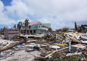 Orient Bay in Sint Maarten na Orkaan Irma